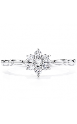 Diamond Bar Flower Stackable Ring product image