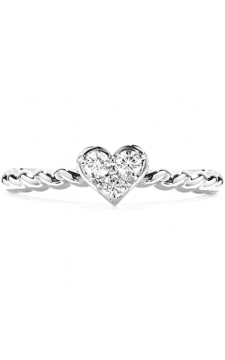 Diamond Bar Heart Stackable Ring product image