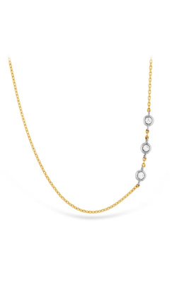 HOF Signature Off-Set Triple Bezel Necklace HFN3BEZ0058W product image
