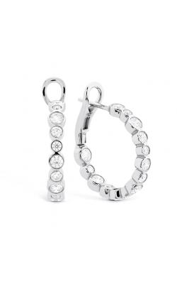 HOF Large Bezel Diamond Hoops product image