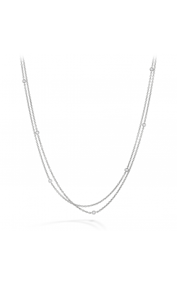 HOF Double Chain Bezel Necklace HFNDBLBEZ00128W product image