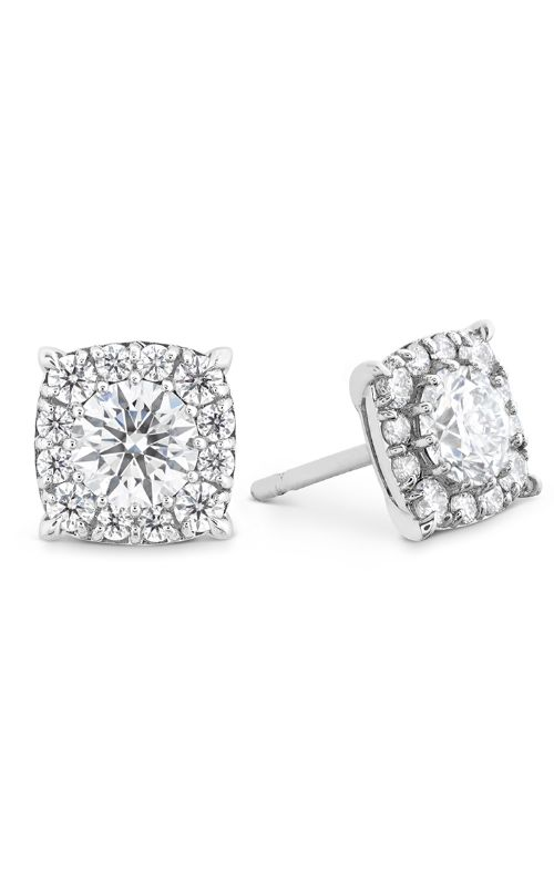 HOF Custom Halo Diamond Stud Earrings product image