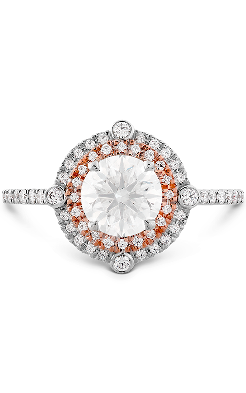 HOF Double Halo Compass Engagement Ring product image