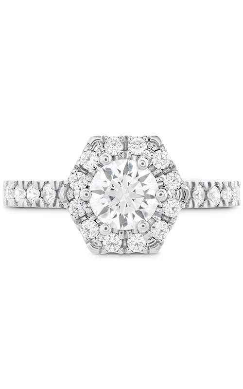 HOF Hexagonal Engagement Ring - Diamond Band product image