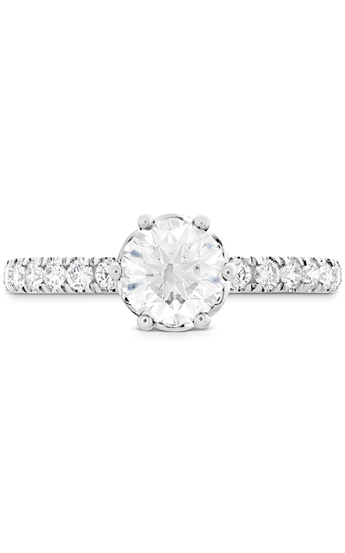 HOF Signature Bezel Basket Engagement Ring - Dia Band product image