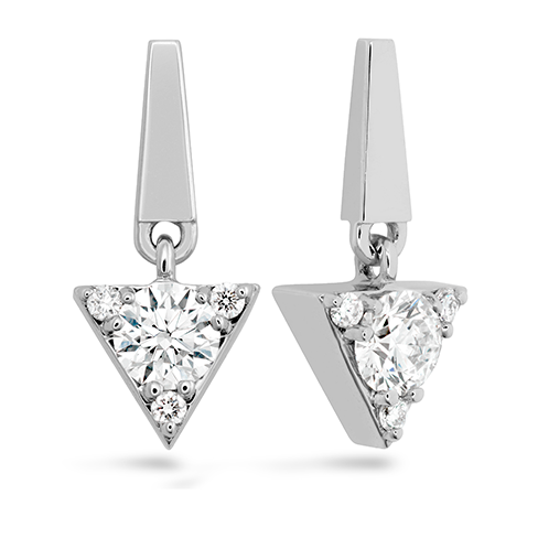 Triplicity Triangle Drop Earrings product image