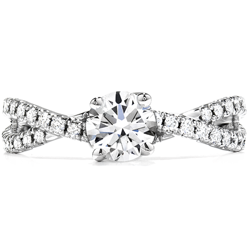 Envelop Twist Engagement Ring product image