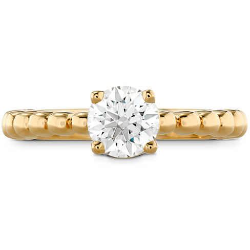 HOF Signature Beaded Solitaire Engagement Ring product image