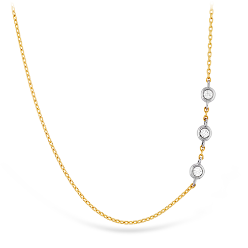 HOF Signature Off-Set Triple Bezel Necklace HFN3BEZ0058P product image