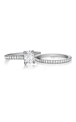Henri Daussi Daussi Cushion Engagement Ring AGS product image