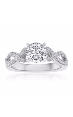 Imagine Bridal Engagement Rings - 18k White Gold 0.23ctw Diamond Engagement Ring, 63846D-1 4 product image
