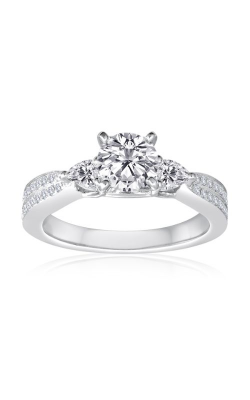 Imagine Bridal Engagement Rings - 18k White Gold 0.42ctw Diamond Engagement Ring, 62996D-2 5 product image