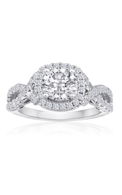 Imagine Bridal Engagement Rings - 18k White Gold 0.56ctw Diamond Engagement Ring, 63606D-3 5 product image