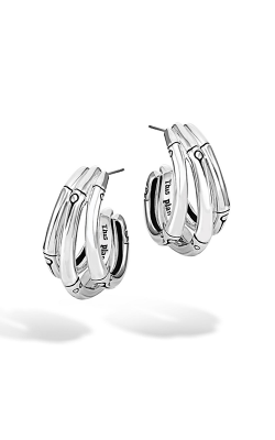 John Hardy Bamboo Small J Hoop Earrings EB5759 product image