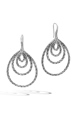 John Hardy Classic Chain Carved Chain French Wire Earrings EB971051 product image