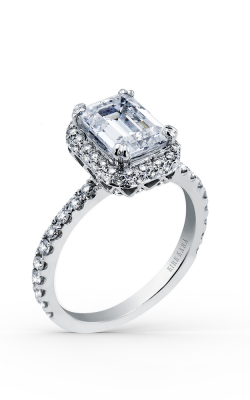 Kirk Kara Carmella - 18k White Gold 0.67ctw Diamond Engagement Ring, K1004DG-R product image