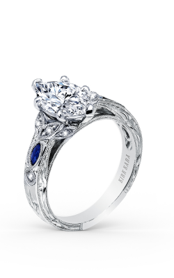 Kirk Kara Dahlia - 18k White Gold 0.12ctw Diamond Engagement Ring, K1126SDG-R product image