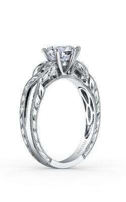 Kirk Kara Pirouetta - 18k White Gold  Engagement Ring, K1220DC-R product image
