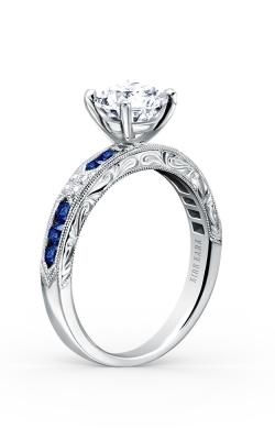 Kirk Kara Charlotte - 18k White Gold 0.03ctw Diamond Engagement Ring, K1390SD-R product image