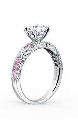 Kirk Kara Charlotte - 18k White Gold 0.03ctw Diamond Engagement Ring, K1390VD-R product image