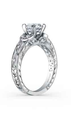 Kirk Kara Dahlia - 18k White Gold 0.12ctw Diamond Engagement Ring, K1420DC-R product image