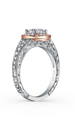Kirk Kara Carmella - 18k White Gold, 18k Rose Gold 0.32ctw Diamond Engagement Ring, K1440DC-RWR product image