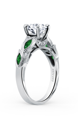 Kirk Kara Dahlia - 18k White Gold 0.04ctw Diamond Engagement Ring, K155TDR product image