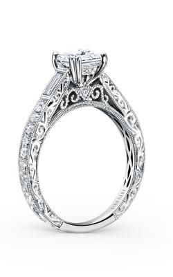 Kirk Kara Charlotte - 18k White Gold 0.19, 0.18ctw Diamond Engagement Ring, K170S product image