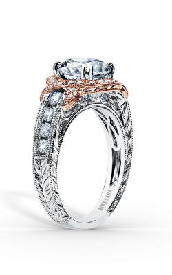 Kirk Kara Pirouetta - 18k Rose Gold, 18k White Gold 0.56ctw Diamond Engagement Ring, K250R8RWR product image