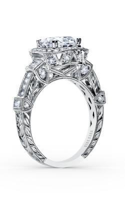 Kirk Kara Carmella - 18k White Gold 0.57, 0.22, 0.18ctw Diamond Engagement Ring, SS6757A-R product image