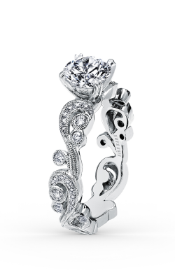 Kirk Kara Angelique - 18k White Gold 0.21ctw Diamond Engagement Ring, SS6967-RS product image