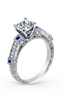Kirk Kara Carmella - 18k White Gold 0.10, 0.17ctw Diamond Engagement Ring, K175SDR product image