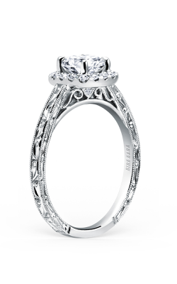Kirk Kara Carmella - 18k White Gold 0.17ctw Diamond Engagement Ring, K184NEC6R product image