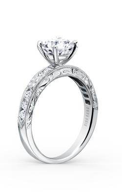 Kirk Kara Charlotte - 18k White Gold 0.38ctw Diamond Engagement Ring, K1390D-R product image