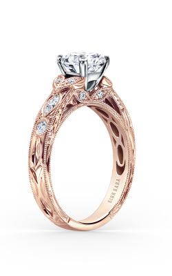 Kirk Kara Dahlia - 18k Rose Gold 0.27ctw Diamond Engagement Ring, K1120DCP-R product image