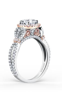 Kirk Kara Pirouetta - 18k White Gold, 18k Rose Gold 0.70ctw Diamond Engagement Ring, K174C65RWR product image