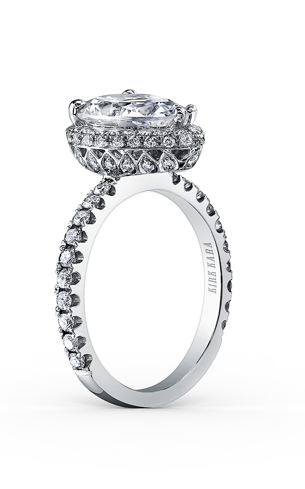 Kirk Kara Carmella - 18k white gold 0.65ctw Diamond Engagement Ring, K1005DI-R product image