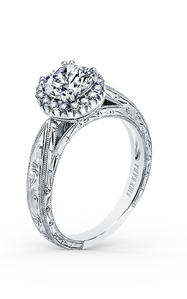 Kirk Kara Carmella - 18k white gold 0.15ctw Diamond Engagement Ring, K1010DC-R product image