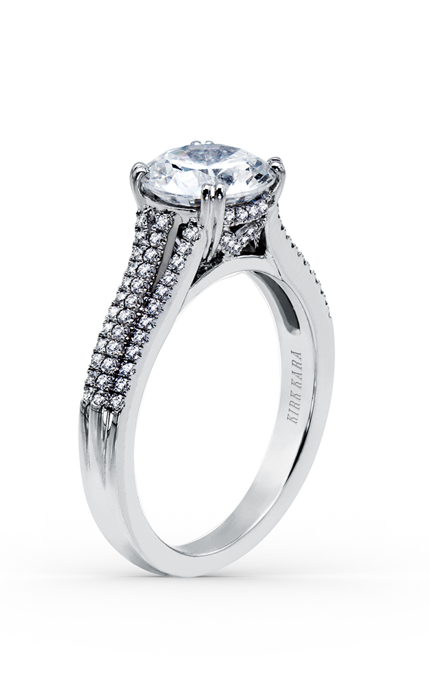 Kirk Kara Stella - 18k white gold 0.33ctw Diamond Engagement Ring, K1020DG-R product image