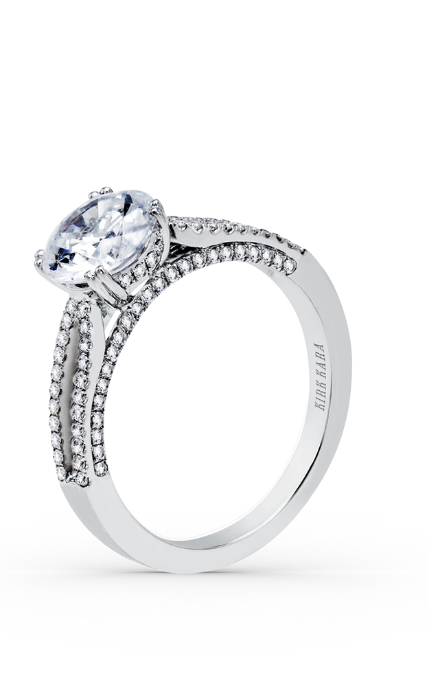 Kirk Kara Stella - 18k white gold 0.36ctw Diamond Engagement Ring, K1030DE-R product image