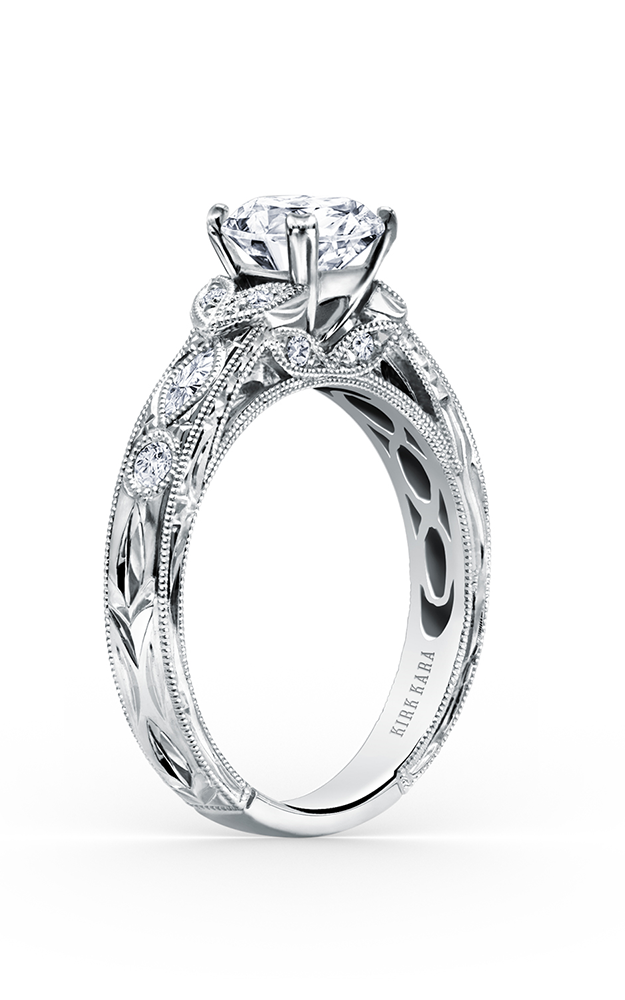 Kirk Kara Dahlia - 18k white gold 0.27ctw Diamond Engagement Ring, K1120DC-R product image