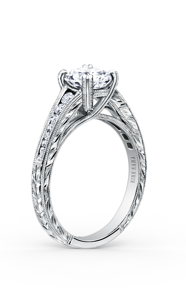 Kirk Kara Stella - 18k white gold 0.25ctw Diamond Engagement Ring, K1140DC-R product image