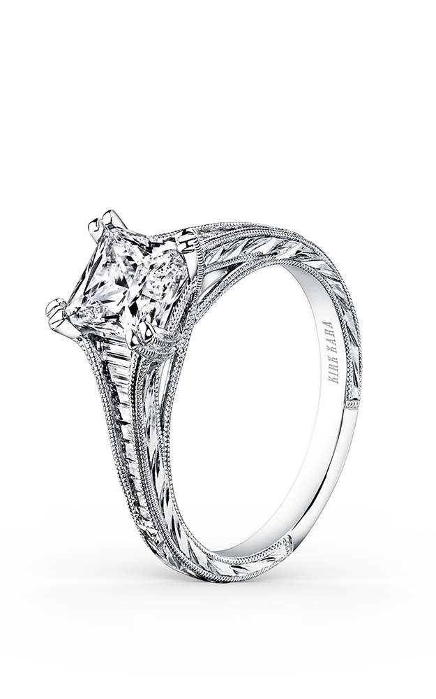 Kirk Kara Stella - 18k white gold 0.44ctw Diamond Engagement Ring, K1151DC-R product image