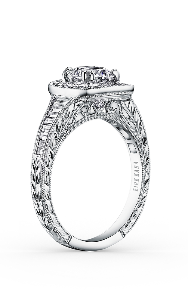 Kirk Kara Carmella - 18k white gold 0.16, 0.40ctw Diamond Engagement Ring, K1160DC-R product image
