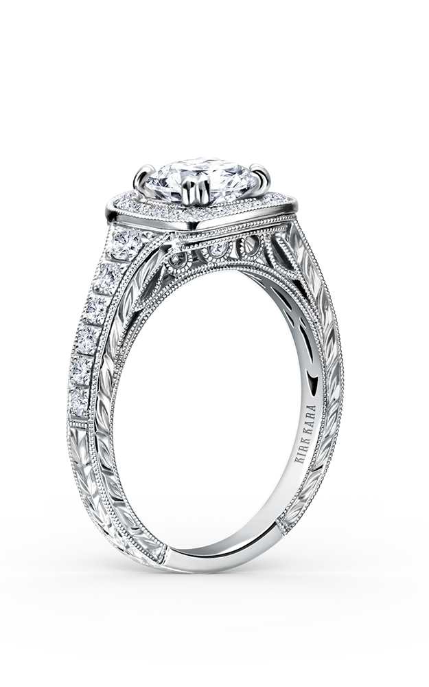 Kirk Kara Carmella - 18k white gold 0.43ctw Diamond Engagement Ring, K1170DC-R product image