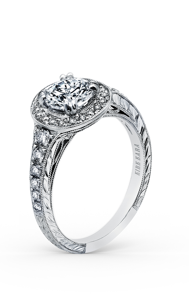 Kirk Kara Carmella - 18k white gold 0.43ctw Diamond Engagement Ring, K1170DCR-R product image