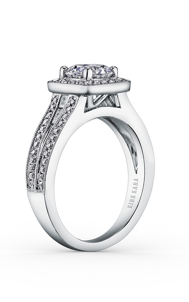 Kirk Kara Carmella - 18k white gold 0.33, 0.15ctw Diamond Engagement Ring, K1200DC-R product image