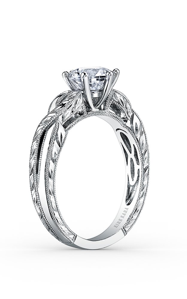 Kirk Kara Pirouetta - 18k white gold  Engagement Ring, K1220DC-R product image