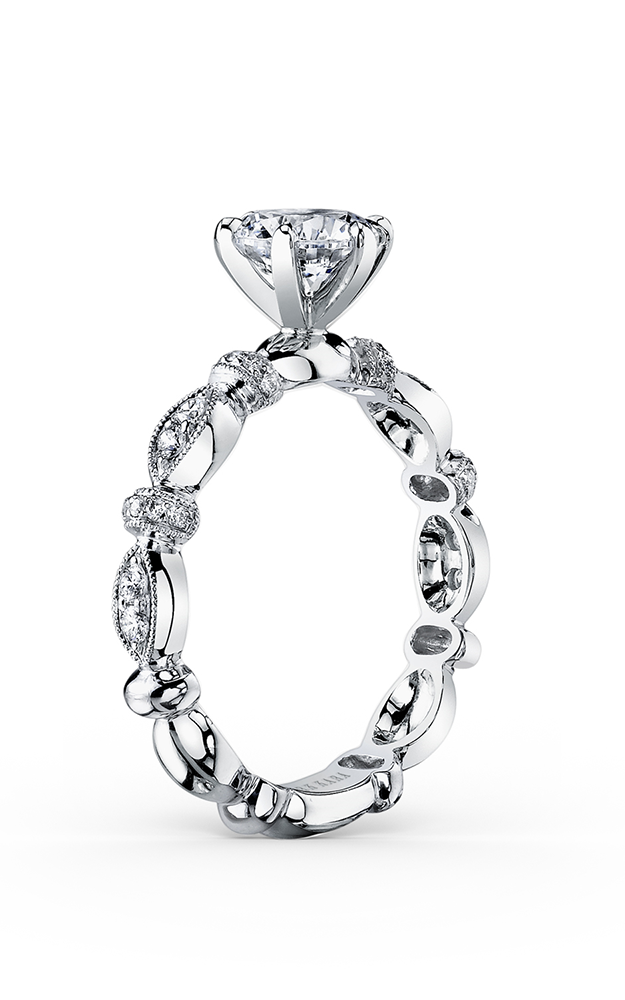 Kirk Kara Dahlia - 18k white gold 0.23ctw Diamond Engagement Ring, K1270DC-R product image