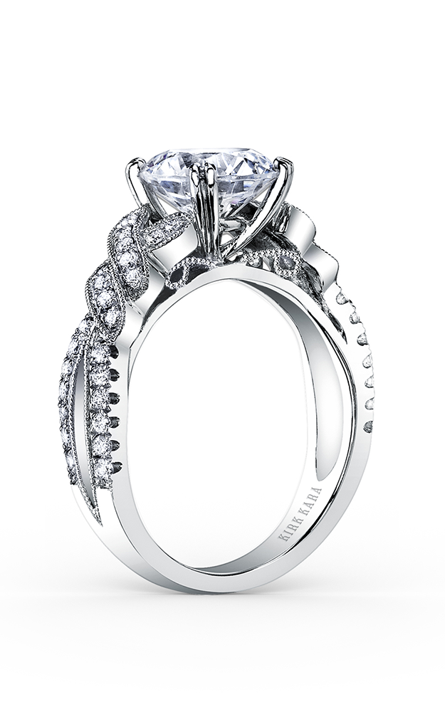 Kirk Kara Pirouetta - 18k white gold 0.33ctw Diamond Engagement Ring, K1330DG-R product image